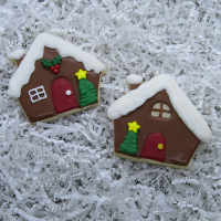 2018 Christmas - Gingerbread House Cookies