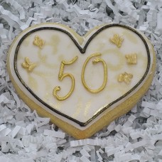 Anniversary Heart Cookies