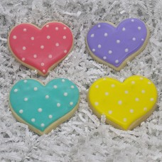 Color Heart Cookies