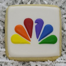 NBC Peacock Logo Cookies